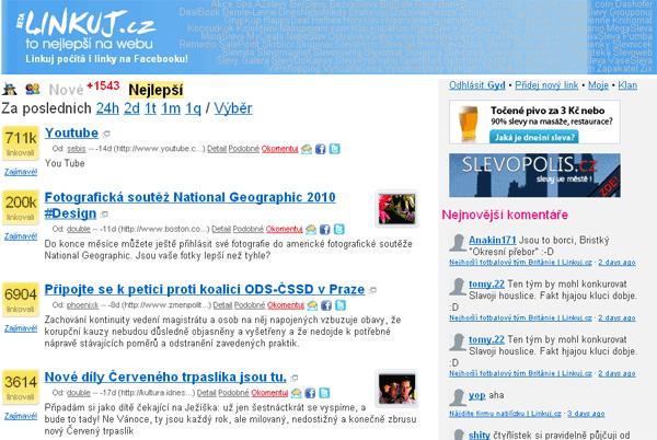 Linkuj.cz - screenshot