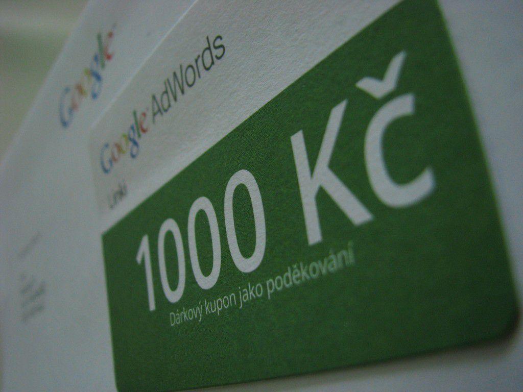 1000 Kč zdarma od Google AdWords