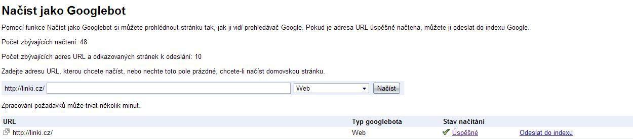 Načíst jako Googlebot