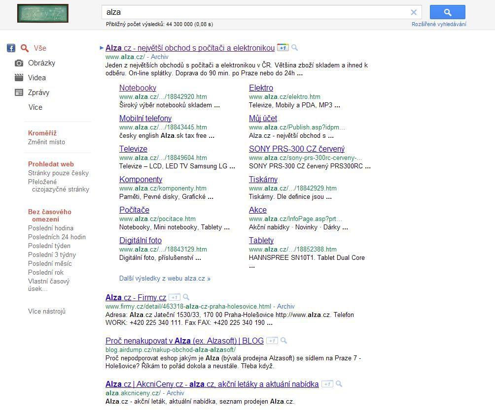 Nové Google Sitelinks
