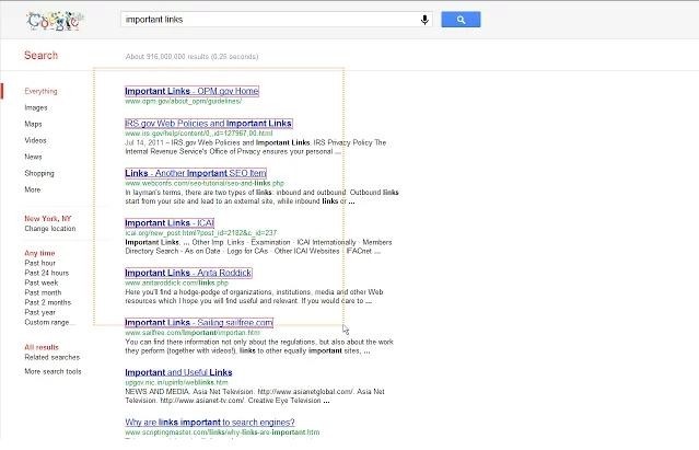 LinkClump pro Google Chrome