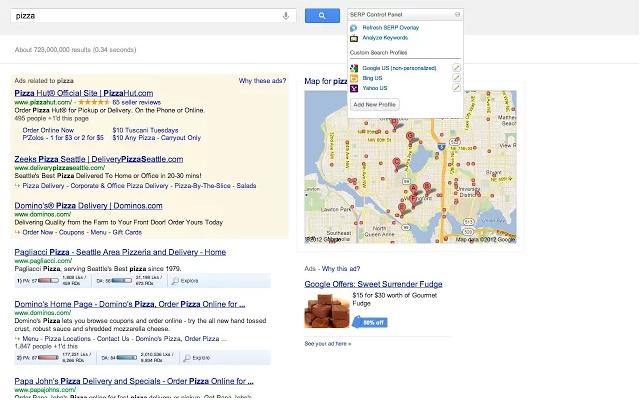 Mozbar pro Google Chrome