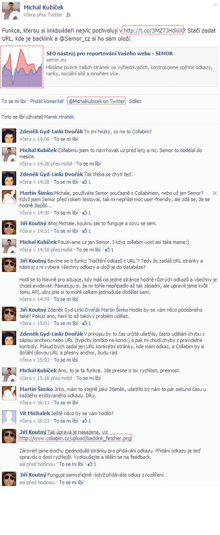 Diskuse z Facebooku
