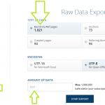 Export surových dat z Ahrefs