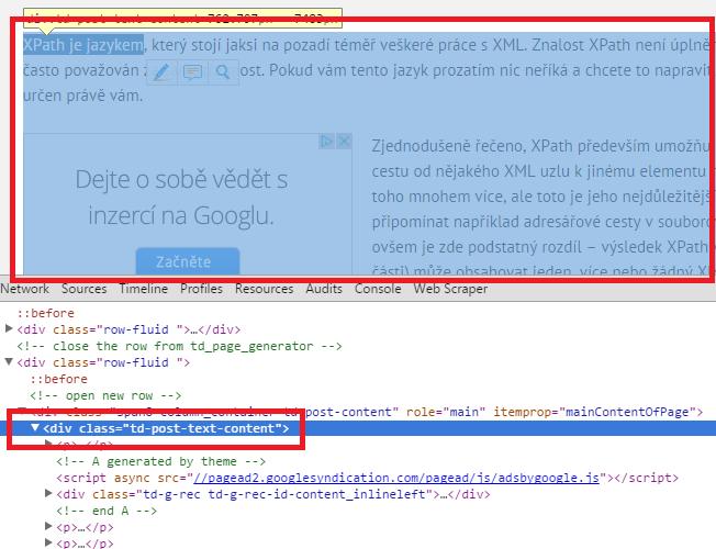 Jak na scraping dat z webů 2