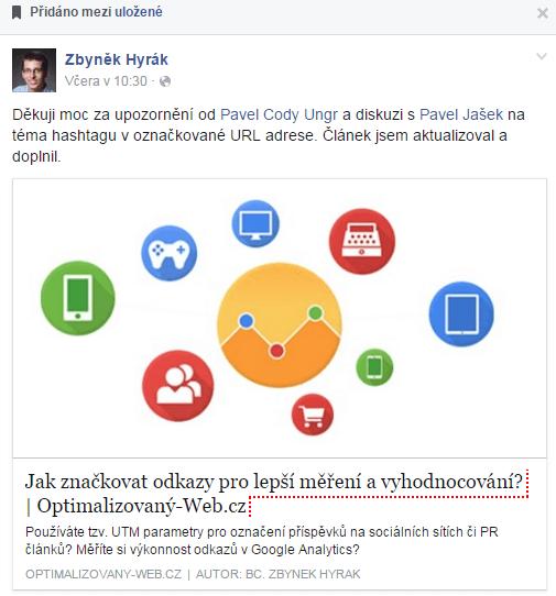 příspěvek na FB