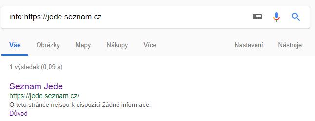 Google už web zná