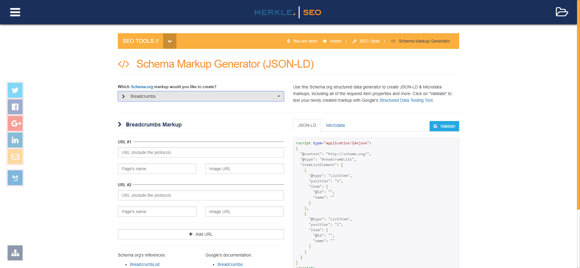 Schema Markup Generator (JSON-LD)