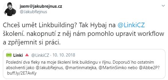 Školení linkbuildingu 1