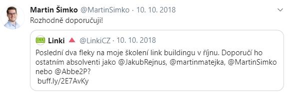 Školení linkbuildingu 2